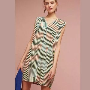 The Odells Anthropologie Colorful Line Tunic